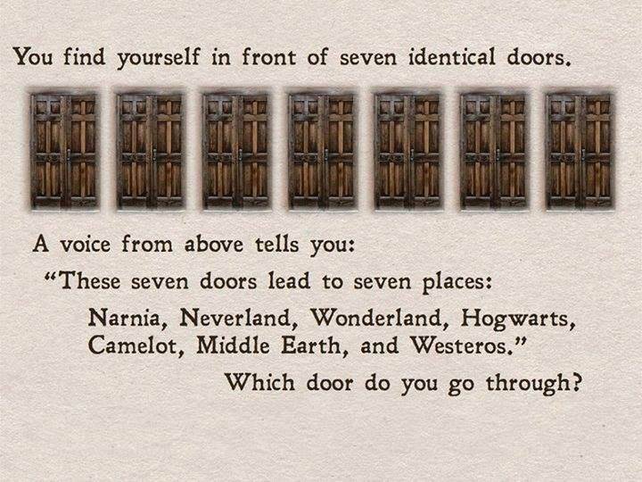 Hardest. Decision. EVER: Which fantasy land would you travelto?