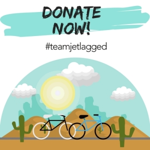 #teamjetlagged logo, donate